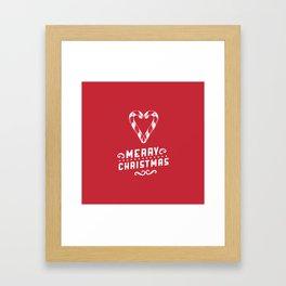 Merry Christmas - Red Framed Art Print