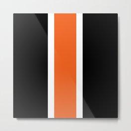 TEAM COLORS 10 ....ORANGE,BLACK Metal Print