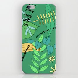 Green Leaves iPhone Skin