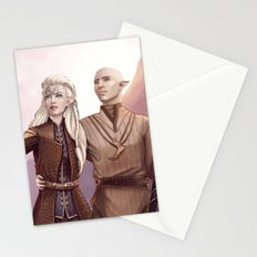 Dragon Age - Finding Skyhold - Solas and Inquisitor Stationery Cards