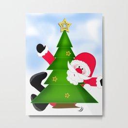 Upsi Santa Claus CB Metal Print