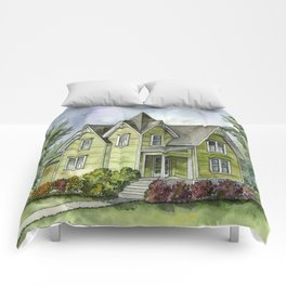 The Green Clapboard House Comforters
