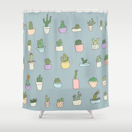 Cactus, succulents, plants! Shower Curtain
