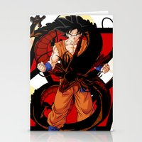 dbz Stationery Cards featuring DBZ - Goku by Mr. Stonebanks