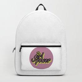 Girl Power, Flower, Girly sticker, Girly t shirt, Girly poster, purple version Backpack