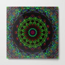 Dark Space Kaleidoscope Mandala Metal Print