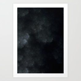 Winter's End - Painted Fractal Print Art Print
