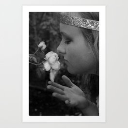 Stop to Smell the Roses Art Print