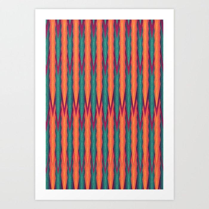 Knitting Art Print : Knitting flames art print by vessdsign society