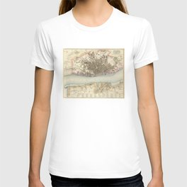 Vintage Map of Liverpool England (1872) T-shirt