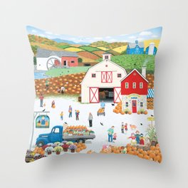 The Harvest Moon Throw Pillow