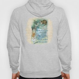 Colorful Alice In Wonderland Quote - How Do You Know I'm Mad Hoody
