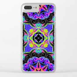 Drawing Floral Doodle G108 Clear iPhone Case