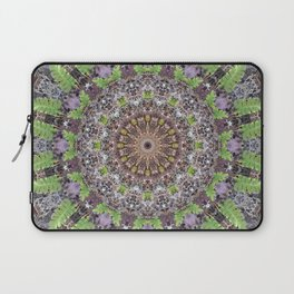 Natural elements in forest mandala Laptop Sleeve