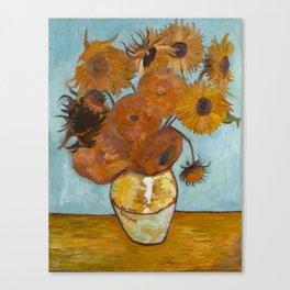 Sunflowers for Amy, a Vincent Van Gogh Copy Canvas Print