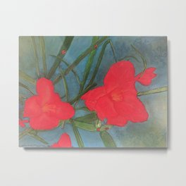Reddish flowers Metal Print