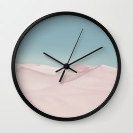 Surreal Pastel Desert Travel Art Wall Clock