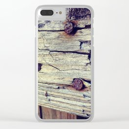 Wooden Decay Clear iPhone Case