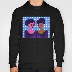 Girls in Purple and Sunglasses Hoody