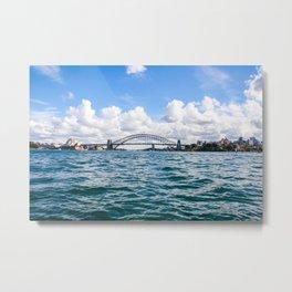 Sydney Harbour Bridge and the Sydney Opera House. Australia. Metal Print