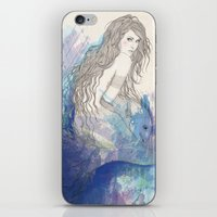 pisces iPhone & iPod Skins featuring Pisces by katiwo