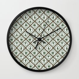 Batik Sido Luhur - Authentic Traditional Pattern Wall Clock