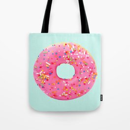 Giant Donut on Mint Tote Bag