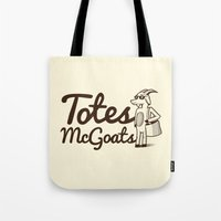 totes Tote Bags featuring Totes McGoats by Scoggz