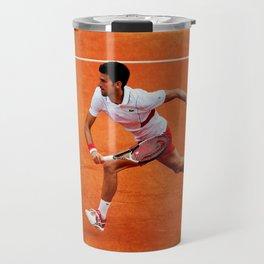 Novak Djokovic Running Travel Mug