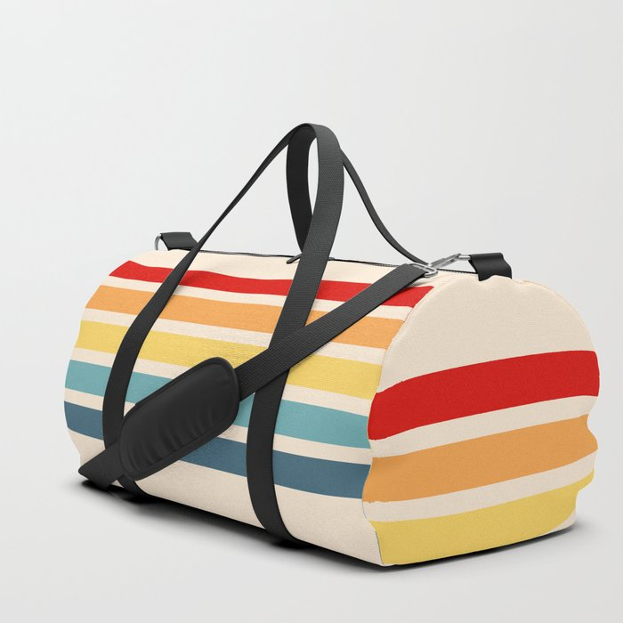 Takaakira - Classic Rainbow Retro Stripes Duffle Bag