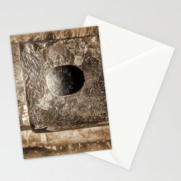 Sepia Guard Rail Stationery Cards