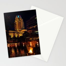Waterfire below the Omni Hotel - Providence, Rhode Island Stationery Cards