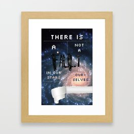 There is a fault in our stars Framed Art Print
