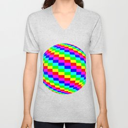 Blender Checkersphere 6 Color Unisex V-Neck