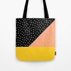 Peach Fuzz Black Polka Dot /// www.pencilmeinstationery.com Tote Bag