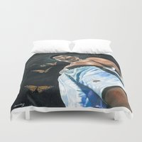 ali gulec Duvet Covers featuring Ali by ManassehJ