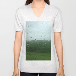 rural vermont summer rain Unisex V-Neck