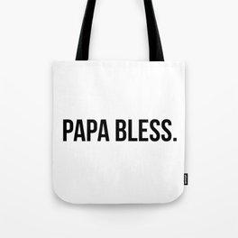 Papa Bless - version 1 - black Tote Bag