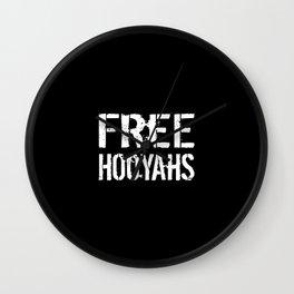 Free Hooyahs Wall Clock