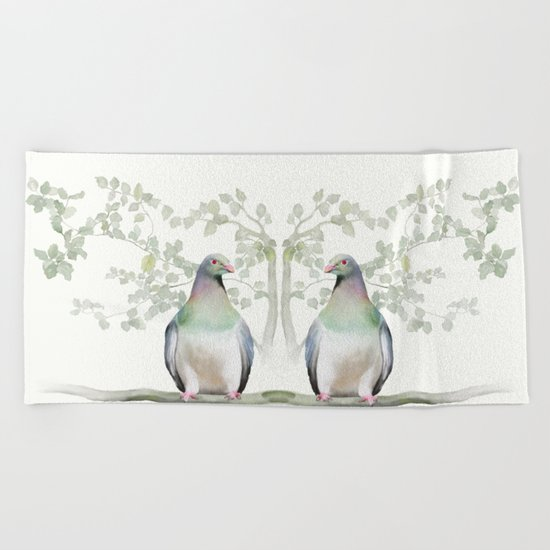 Wood Pigeon Beach Towel