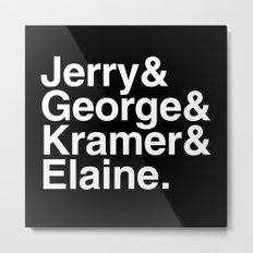 Seinfeld Jetset Metal Print