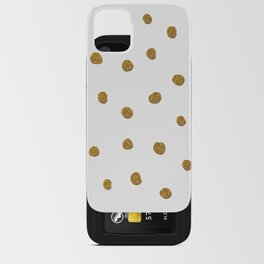 Golden touch II - Gold glitter polka dots iPhone Card Case