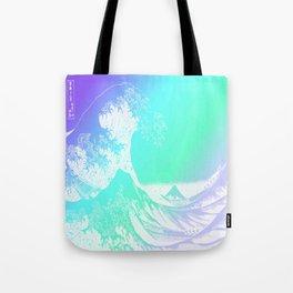The Great Wave Purple Mint Aqua Tote Bag