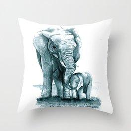 My Little Peanut (Elephants) Throw Pillow