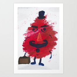 Mr. Gürbstein on his way to work Art Print