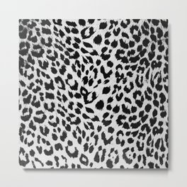 MODERN - PATTERNS - LEOPARD - SKIN - ABSTRACT Metal Print
