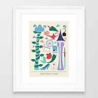 once upon a  time Framed Art Prints featuring Once Upon a Time by Abbie Imagine