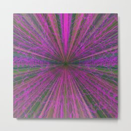 Ultraviolet Warp Metal Print