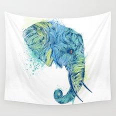 Elephant Head II Wall Tapestry