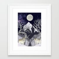 guardians Framed Art Prints featuring Guardians by Yoly B. / Faythsrequiem